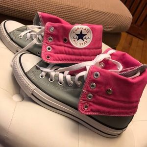Converse Shoes - Gray/pink Converse All star Sneakers